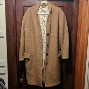 Free People Lace Lined Wool Coat